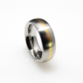 Platinum Ring with a Gold Inlay