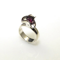 Sterling Silver Ring with a Rhodelite Garnet Gemstone