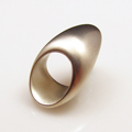 Bamboo Inspired Ring in 925 Sterling Silver